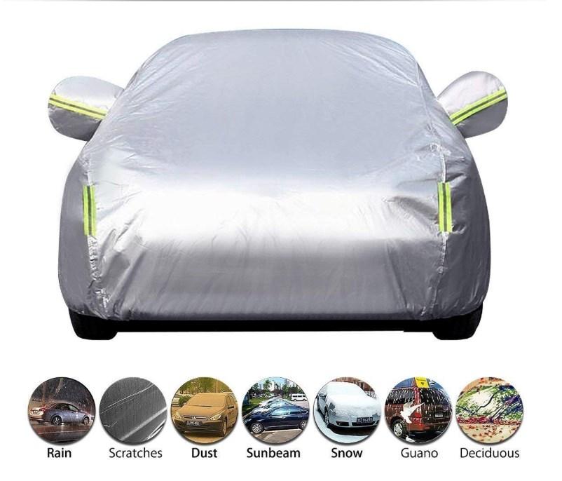 M:431*165*120cm Argento logei/® Garage Telo copriauto auto copertura comprende speciale copertura impermeabile Taffett/à Impermeabile Anti UV