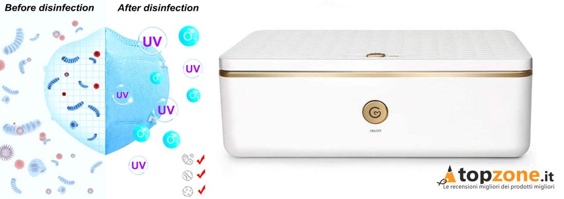 Sterilizzatore Deeabo Box Uv Ozono per Mascherine
