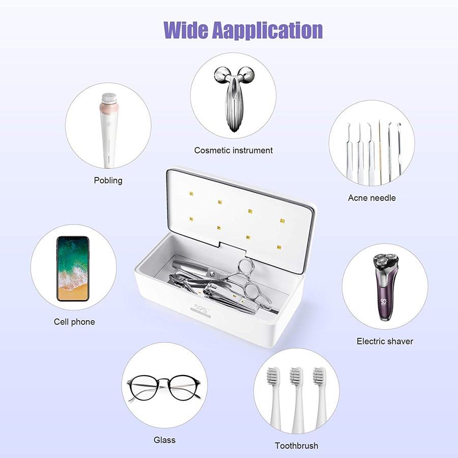 Sterilizzatore-per-telefoni-mascherina-trucchi-con-Scatola-a-Luce-UV